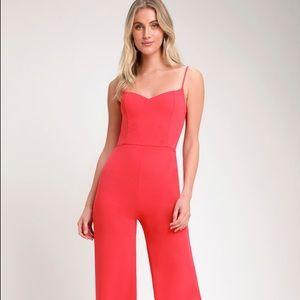 🆕 Lulu's Hot Pink Wide-Leg Jumpsuit